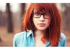 人,黥,红发,美女,戴眼镜的美女,面对,肖像,模特51057