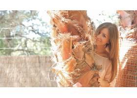 人,莉莉C,美女,明星,微笑,长发,户外的女人51783