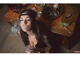 人,黥,美女,抽烟,麻,奉,抽烟,Aleksandr Mavrin,戴安娜梅丽森,黑