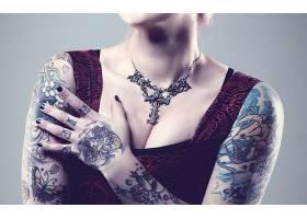 人,黥,美女,模特,项链,涂指甲61874