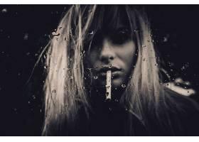 人,美女,金发,面对,玻璃,水滴,抽烟,肖像,乌贼,模特51471