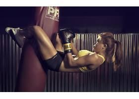 人,美女,腿,斯潘德克斯弹性纤维,金发,模特,拳击,锻炼,运动文胸,