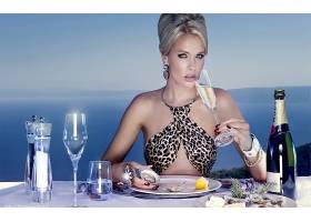 人,餐饮,喝,美女,动物印花,香槟酒,模特3965