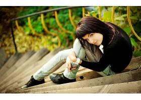 人,美女,黑发,楼梯,模特62901