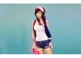 人,美女,黑发,牛仔短裤,神奇宝贝,角色扮演,简单的背景,模特,艾米