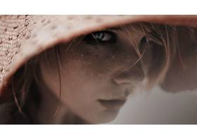人,蓝眼睛,过滤,美女,面对,雀斑,有趣的帽子62644