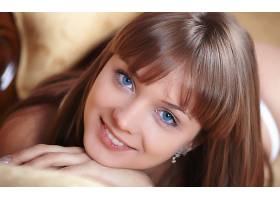 人,蓝眼睛,面对,美女,微笑,模特26895