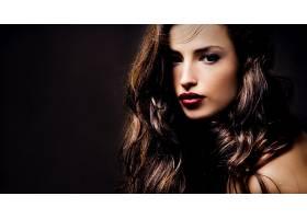 人,黑发,模特,美女,照片处理,面对,红唇膏,长发69174