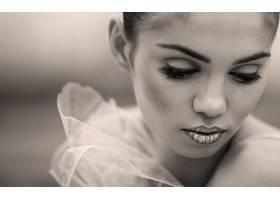 人,美女,面对,模特,乌贼,化妆,肖像70275