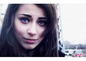 人,美女,黑发,过滤,蓝眼睛,户外的女人,面对,模特,城市的70537