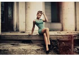 人,腿,连衣裙,坐在,过滤,红发,黑发,凯伦阿布拉扬,美女,高跟鞋,模