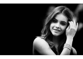 人,芭芭拉帕尔文,美女,单色,微笑,长发,卷发,模特2135