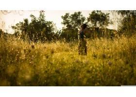 人,美女,领域,阳光,户外的女人,景观,模特69212