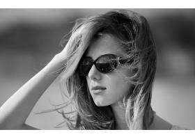 人,黑发,黥,美女,戴眼镜的美女,面对,模特,单色51049