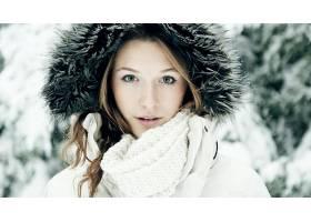 人,雪,冬季,蓝眼睛,美女,面对,金发,模特,户外的女人4393