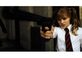 人,踢屁股,氯仿溶剂?格雷斯莫瑞兹,领带,枪,美女,电影,有枪的女