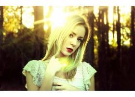 人,金发,阳光,户外的女人,面对,美女,模特2563