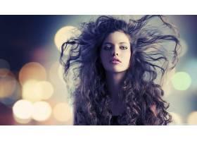 人,长发,蓝眼睛,模特,美女,面对68605