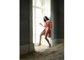 人,花的,黑发,模特,时尚,砂,窗口,阳光,美女39738