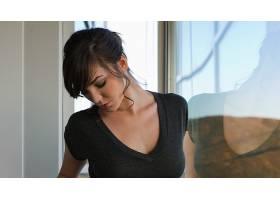 人,黑发,霍莉迈克尔斯,美女,面对,模特,闭着眼睛,黑发,反射,明星,