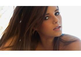 人,黑发,面对,长发,美女,模特,棕色的眼睛,张开嘴62751图片