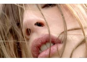 人,嘴巴,特写,头发在脸上,美女,面对,嘴唇36955