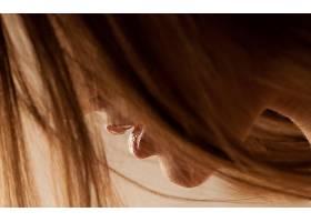 人,嘴巴,特写,面对,头发,美女,模特36957
