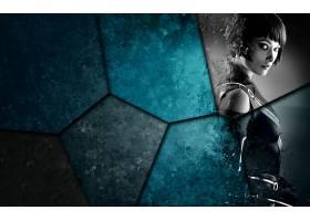 人,奥利维亚王尔德,电影,特隆:遗产,演员,数字艺术,单色,蓝色,看