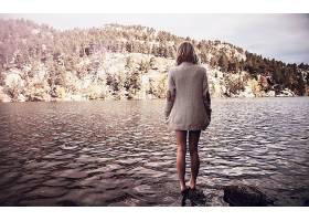 人,美女,湖,赤脚,户外的女人,水,模特65864