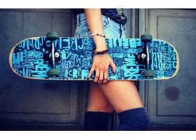 人,美女,滑板,手镯,牛仔短裤,模特65709