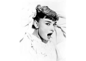 人,奥黛丽・赫本,演员,美女,单色,张开嘴,肖像,看着观众969