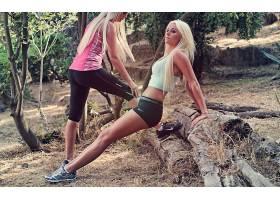 人,美女,体育,金发,耐克,户外的女人,模特,健身模特55221