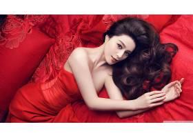 人,红色礼服,亚洲,黑发,美女,连衣裙,模特,长发69145