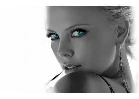 人,查理兹塞隆,选择性着色,演员,面对,美女,名人36810