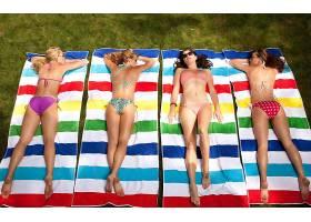 人,美女,比基尼泳装,一群美女,戴眼镜的美女,屁股,户外的女人,模