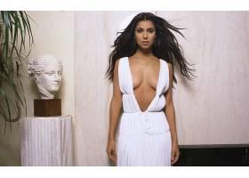 人,演员,Roselyn Sanchez,分裂,长发,胸部,连衣裙,白色礼服,美女2