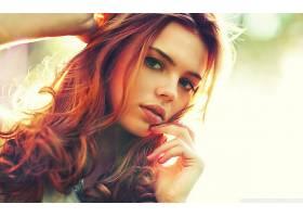 人,美女,红发,模特,面对,卷发,张开嘴,看着观众,长发27805