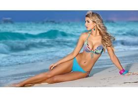 人,美女,比基尼泳装,金发,模特,海滩,佩特拉Cubonova,砂,长发4849