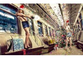 人,照片处理,Photoshop中,数字艺术,圣诞,美女,模特,车辆23897