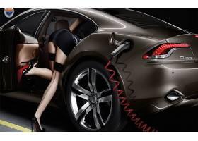 人,美女,模特,丝袜,屁股,高跟鞋,汽车,车辆,汽车的美女8951