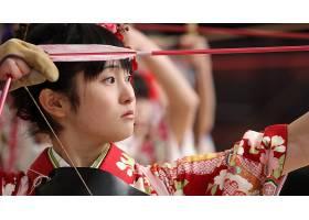 人,日本,美女,弓,武术,射术,面对,射手,射箭9684