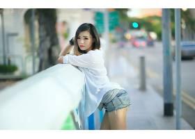 人,美女,亚洲,模特,牛仔短裤,城市的,户外的女人65817