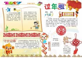 猴年贺岁春节小报