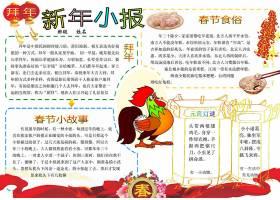 春节饮食文化小报