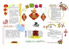 马年春节手抄报