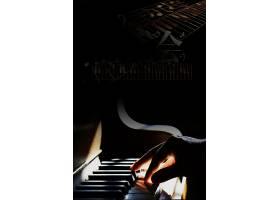 黑金钢琴人物背景模板
