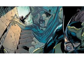 漫画壁纸,鸟,关于,捕食,蝙蝠女侠,壁纸