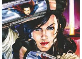 漫画壁纸,小镇,超人,奇迹,妇女,壁纸