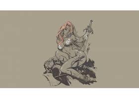 漫画壁纸,红色,Sonja,壁纸(19)