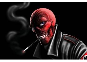 漫画壁纸,红色,头盖骨,壁纸